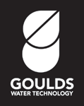 Goulds Water Technology Logo Vertical White