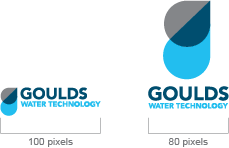 Goulds Water Technology Logo Minimum Size On-Screen